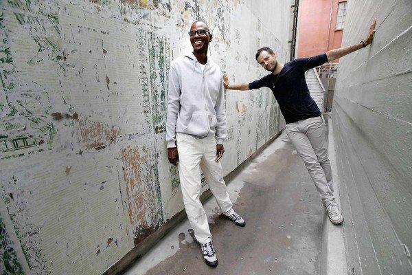 Artist Mark Bradford, left, and choreographer-dancer Benjamin Millepied have collaborated on a special performance.