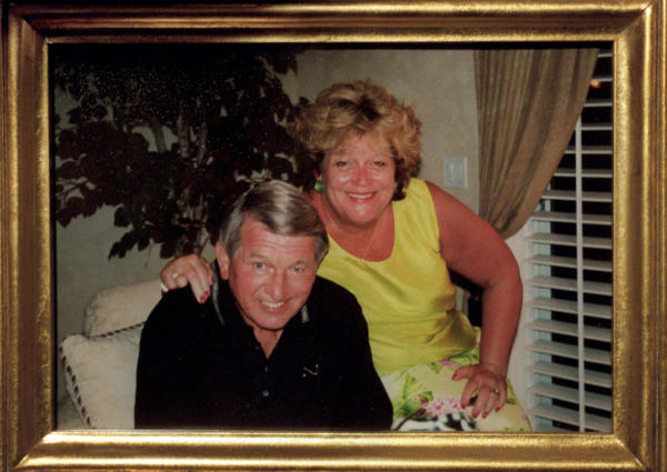 The last photo of John and Sandy Unitas before he died in 2002 of a heart attack. The couple was in Vero Beach, Fla., Sandy Unitas said.