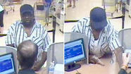 A man suspected of robbing a bank in a Waukegan grocery store earlier this month is believed to have robbed a second bank in a grocery store in the far north suburb this morning, according to the FBI.