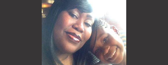 A photo of Officer Nikkii Bostic-Jones and her daughter, Nikkia.