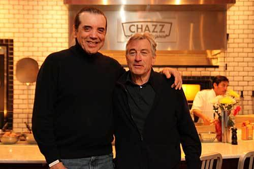 Chazz Palminteri and Robert De Niro at Palminteri's restaurant Chazz: A Bronx Original in Baltimore.