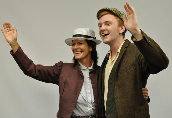"Kate McGowan (left), played by Amy Cross, and Jim Farrell, played by Bill Raveau, are third class passengers on the Titanic in the Bay View production of ""Titanic The Musical."""