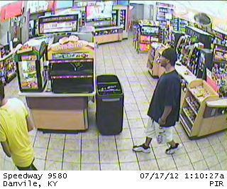 Police say the man who robbed Speedway early Tuesday morning grabbed several slices of pizza before going to the counter and demanding money from the cash register.