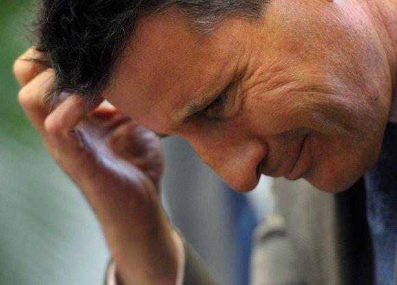 The weather is another head-scratcher for Seb Coe. (Philippe Wojazer/ Reuters)