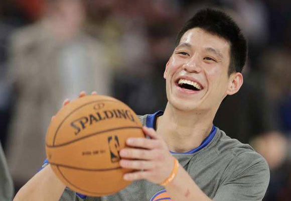 Jeremy Lin with the New York Knicks last season.