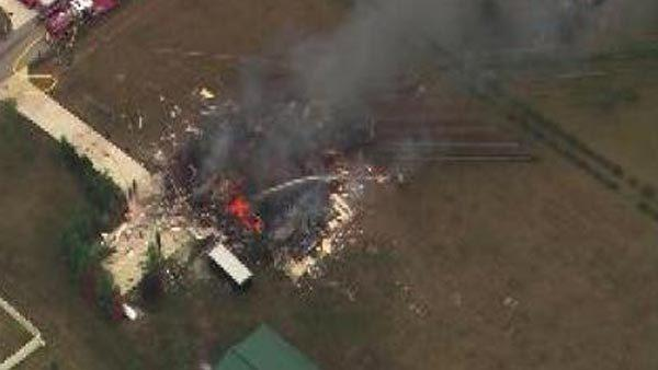 Firefighters respond to home explosion in south suburban Manhattan.