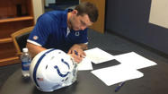 Colts officially sign quarterback Andrew Luck Thursday