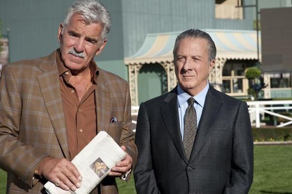 "Dennis Farina and Dustin Hoffman of HBO's ""Luck."""