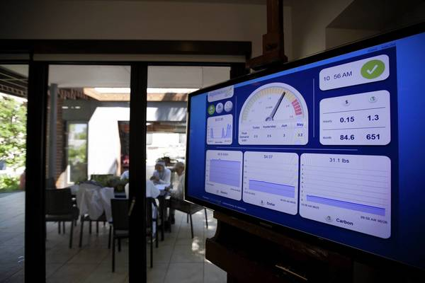 A state-of-the-art energy monitoring system at the Smart Home exhibit at the Museum of Science and Industry in Chicago.