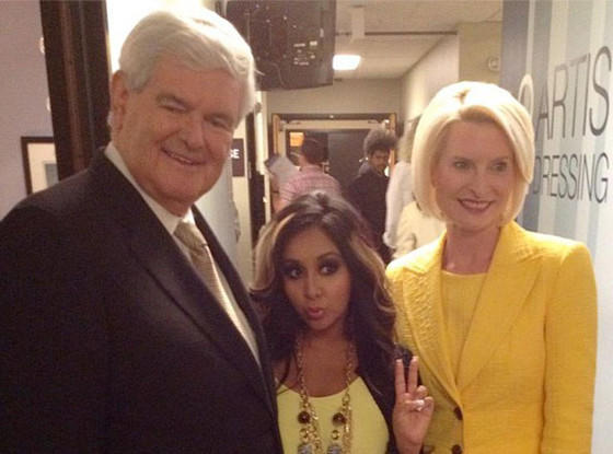 Pregnant Snooki Gushes Over Newt Gingrich