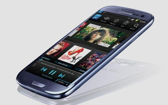 Samsung in May launched its Music Hub service in Europe, shown here on its Galaxy S III smartphone.
