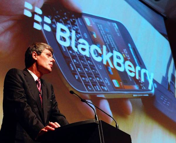 Thorsten Heins, president and CEO of Research in Motion. Two years ago, BlackBerry devices accounted for nearly 42% of all smartphones in the U.S. That's fallen to barely over 11%.