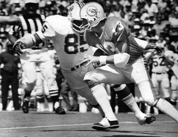 Believe it or not, the Dolphins used to sell No. 13 jerseys before Dan Marino arrived. Scott was named MVP of Super Bowl VII and had an incredible 35 interceptions in 84 career games in Miami.