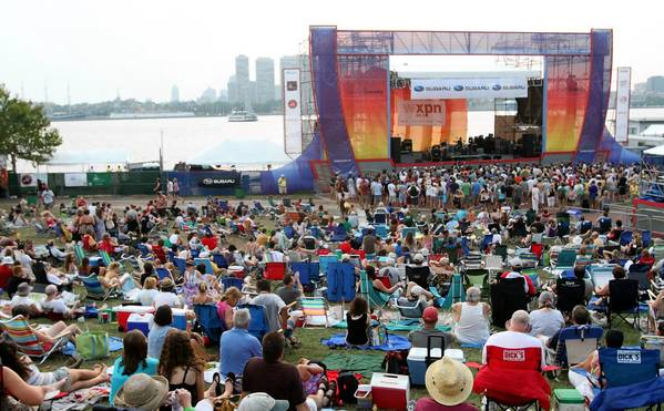 The crowds enjoy the Xponential Music Festival on the Camden, N.J. waterfront.