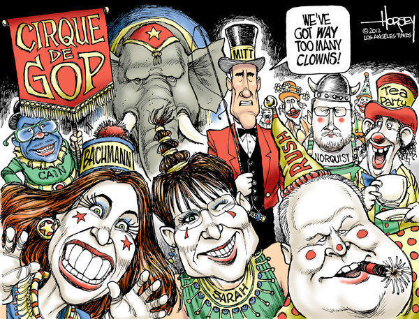 Bachmann, Palin, Limbaugh: clowns at the GOP circus