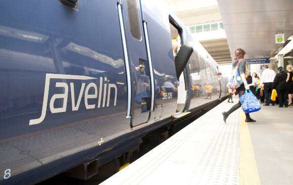 The Javelin high speed train.  (Courtesy Southeastern Railway)