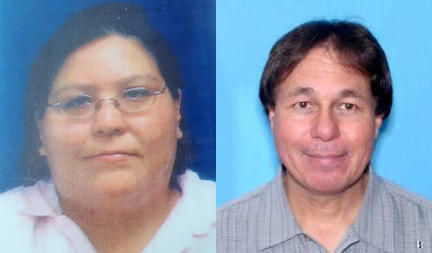 Authorities are looking for Pamela Marie Cloud (left) and Randolph Brewer, both of Carp Lake. The pair were last seen on Tuesday, July 17.