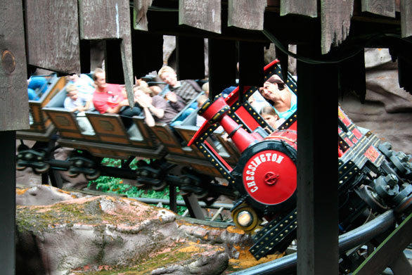 The 1987 Runaway Train mine train steel coaster at Chessington World of Adventure.