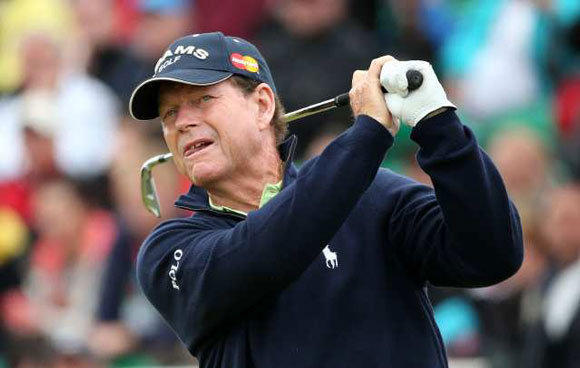 Tom Watson during the second round of the British Open.