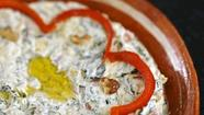 Recipe: Spinach, yellow squash and grilled red pepper dip with yogurt