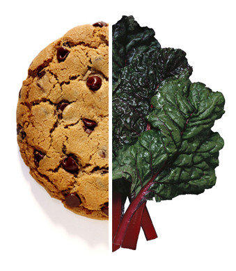 You're staring at chard but crave a cookie. Sugar, carbs, salt, fat — you're hard-wired to want the bad stuff.