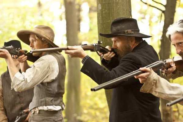 Kevin Costner and his band Modern West have music featured in the History Channel mini-series 'Hatfields & McCoys'