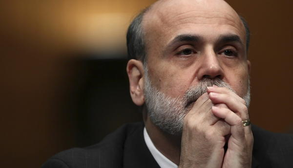 ederal Reserve Chairman Ben Bernanke testifies before the Senate Banking, Housing and Urban Affairs Committee on his re-nomination to the position December 3, 2009 in Washington, DC. Sen. Bernie Sanders (I-VT) has used a procedural tactic to delay the confirmation process.