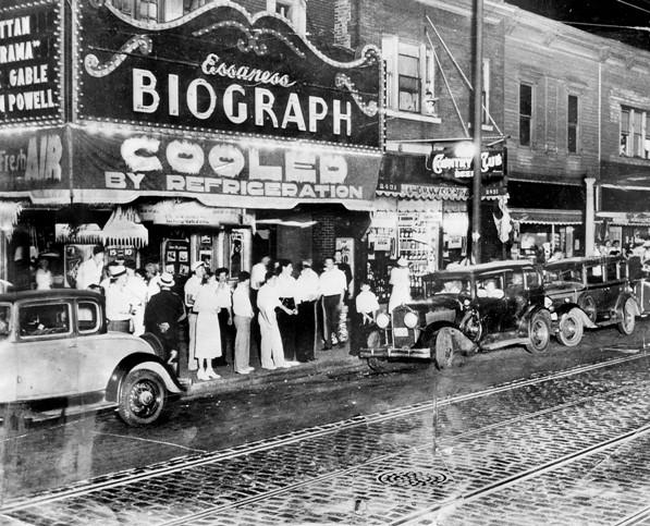"Notorious bank robber John Dillinger, who was linked to the murder of seven police officers and three federal agents during his yearlong crime spree, was gunned down outside Lincoln Park's Biograph theater after seeing gangster flick ""Manhattan Melodrama."" Dillinger was born in Indianapolis, so he was just another annoying Chicago tourist."