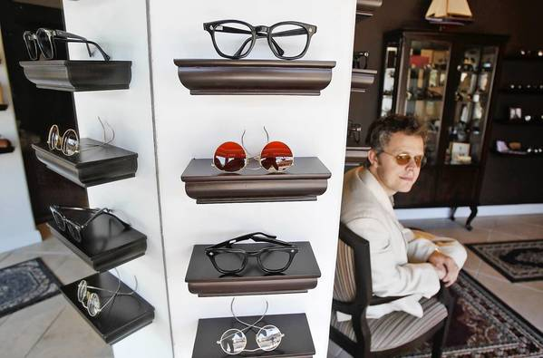 Gentlemen's Breakfast owner Van de la Plante sells vintage glasses and more at his Laguna Beach store.