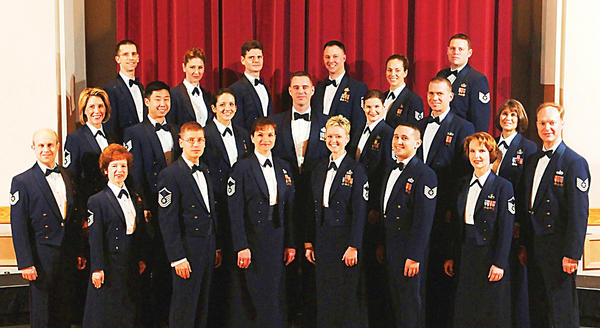 The U.S. Air Force Concert Band and Singing Sergeants will perform at 6:30 p.m. Thursday, July 26, at Hagerstown Community College Amphitheater, 11400 Robinwood Drive, east of Hagerstown.