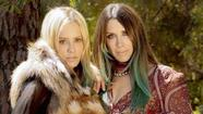 With their matching paisley mini dresses, matching teal streaks in their hair and matching snakeskin booties, fashion designers Pamela Skaist-Levy and Gela Nash-Taylor are a head-turning vision as they breeze into Soho House, two peas in a haute-hippie pod.
