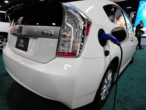 Toyota sold 4,374 of its Prius plug-ins in the first half of this year, about 60% of them in California.