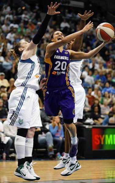 Kristi Toliver, seen in a game in May, plans to work out with a coach at USC during the WNBA's five-week break for the 2012 London Olympics.