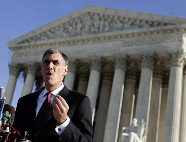 "In asking the Supreme Court to rule on the benefits ban in the Defense of Marriage Act, Solicitor Gen. Donald Verrilli said the nation needs an ""authoritative resolution of the question."""
