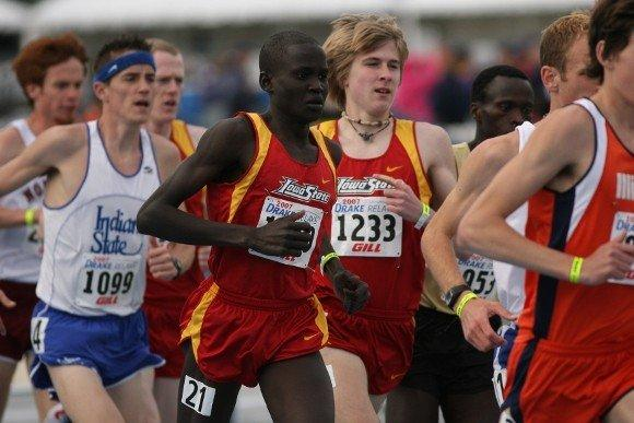 Guor Marial (foreground) competing for Iowa State. (Photo courtesy Iowa State athletics)