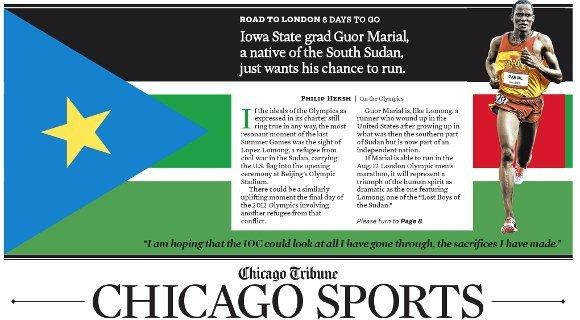 The Guor Marial story as it appeared in the Tribune's print edition.