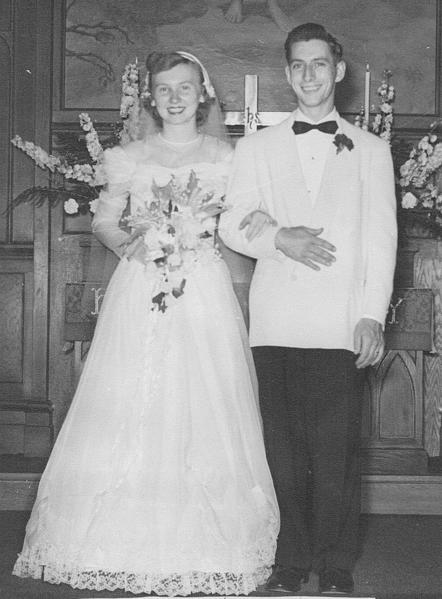 Richard and Shirley Fouke pose for this picture taken on their wedding day in June 1951.