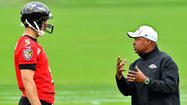 New Ravens QB coach Jim Caldwell hopes to raise Joe Flacco's game