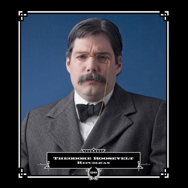 Robert Marbury as Theodore Roosevelt, in his series depicting presidents and their facial hair.