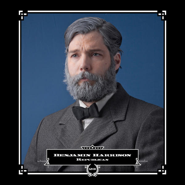 Robert Marbury as Benjamin Harrison, in his series depicting presidents and their facial hair.