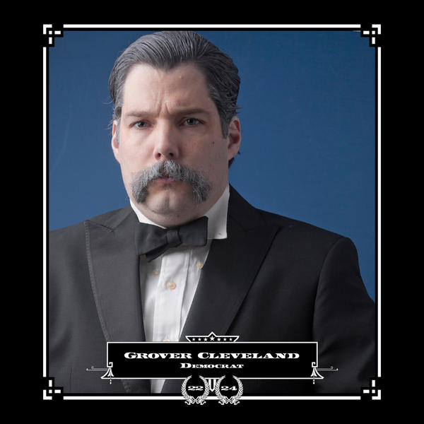 Robert Marbury as Grover Cleveland, in his series depicting presidents and their facial hair.