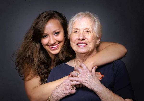 Jennifer Roberts, 17, of Allentown poses with her grandmother Faye Wippel, 80, of Allentown