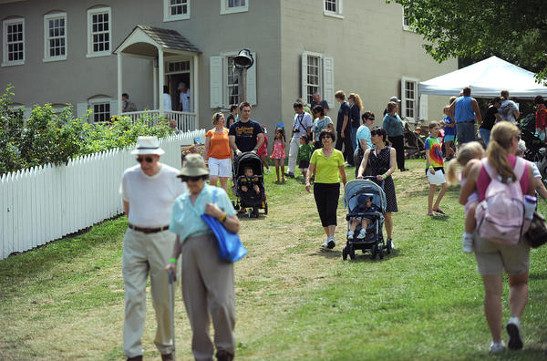 It was a beautiful day Saturday at the Blueberry Festival on Burnside Plantation in Bethlehem.