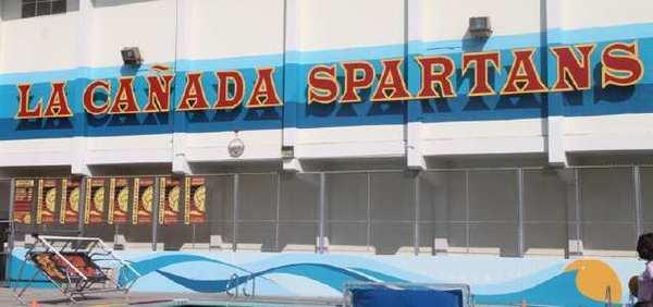 The pool at La Canada High School.