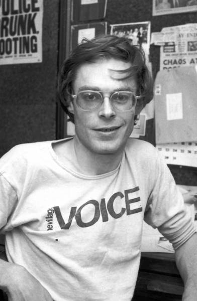 Alexander Cockburn, shown in 1977, wrote a groundbreaking column for the Village Voice critiquing mainstream media.