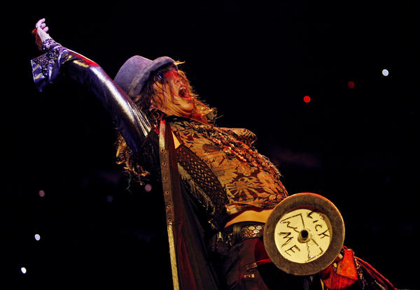Aerosmith performs at the Wells Fargo Center in Philadelphia on July 21.