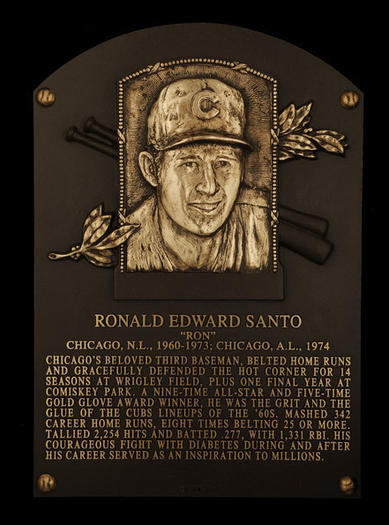 Ron Santo's Hall of Fame plaque
