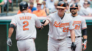 Bullpen holds on tight as Orioles win their fifth straight, 4-3 over Indians