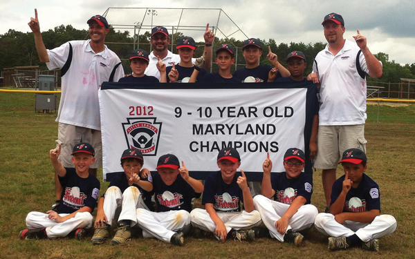 The Federal Little League 9-10 All-Stars won the Maryland state championship on Sunday at Waldorf, Md., defeating Frederick National 11-1. From left to right: Seated -- Kyle Corley, Braden Kolb, Tyler Remsburg, Toddie Stocks, Brayden Quirple and Micheal Keats. Standing -- manager Tim Kolb, Dylan Watson, coach Tim Walter, Ben Caldwell, Garrett Kercheval, Ian Selby, Jaylend Williams and coach Brian Selby.
