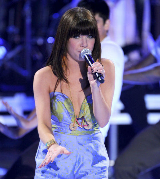 2012 Teen Choice Awards best and worst moments: Carly Rae Jepsen closed out the 2012 TCAs with her summer anthem Call Me Maybe, and it must be said that the 27-year-old Justin Bieber protege is evolving into a true performer. It was especially cool when she took her mic into the crowd and got a little help from Sophia Grace and Rosie.   -- Liz Kelly Nelson, Zap2it